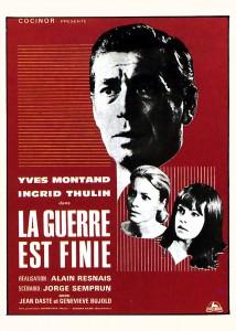 """Affiche du film """"La guerre est finie"""""""