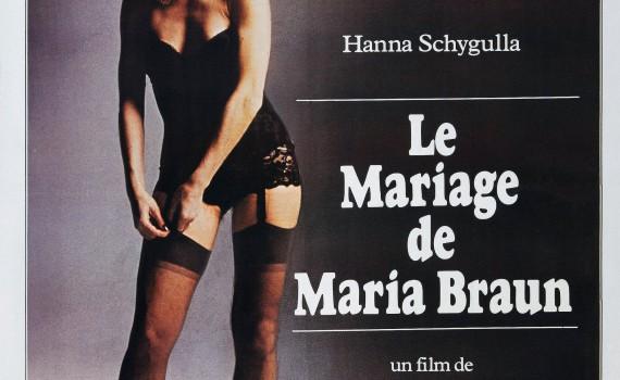 """Affiche du film """"Le Mariage de Maria Braun"""""""