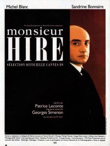 """Affiche du film """"Monsieur Hire"""""""