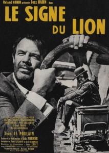 """Affiche du film """"Le Signe du lion"""""""