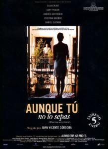 """Affiche du film """"Aunque tú no lo sepas"""""""