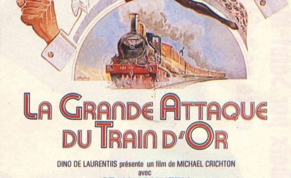 "Affiche du film ""La grande attaque du train d'or"""
