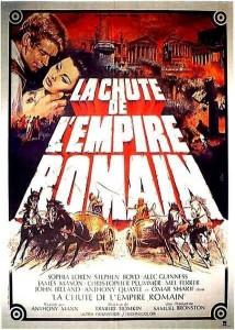 """Affiche du film """"La chute de l'empire romain"""""""
