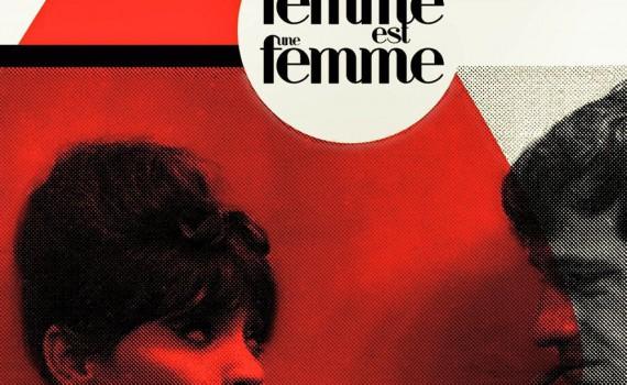 """Affiche du film """"Une femme est une femme"""""""