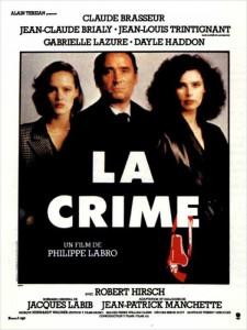 """Affiche du film """"La crime"""""""