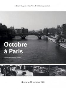 """Affiche du film """"Octobre à Paris"""""""