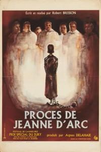 """Affiche du film """"Procès de Jeanne d'Arc"""""""
