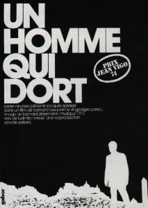 """Affiche du film """"Un homme qui dort"""""""