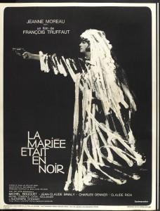 """Affiche du film """"La mariée était en noir"""""""