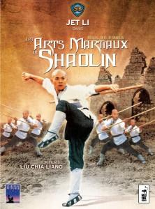 """Affiche du film """"Les Arts Martiaux de Shaolin"""""""