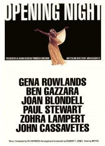 """Affiche du film """"Opening Night"""""""