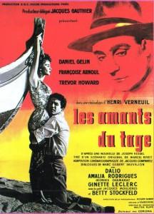 """Affiche du film """"Les amants du Tage"""""""