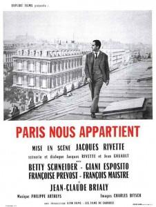 """Affiche du film """"Paris nous appartient"""""""