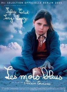 """Affiche du film """"Les Mots bleus"""""""