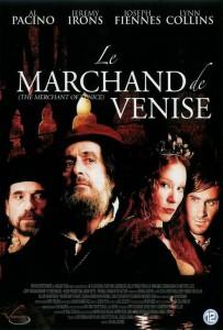 """Affiche du film """"Le marchand de Venise"""""""