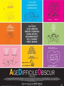 """Affiche du film """"Age Difficile Obscur"""""""