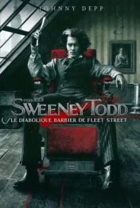 "Affiche du film ""Sweeney Todd, le diabolique barbier de Fleet Street"""