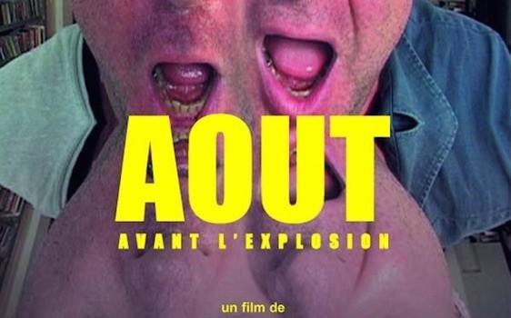"""Affiche du film """"Août (avant l'explosion)"""""""
