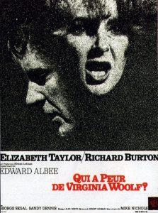 """Affiche du film """"Qui a peur de Virginia Woolf ?"""""""