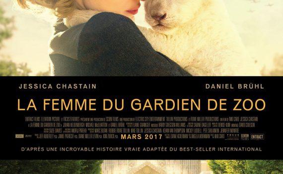 """Affiche du film """"La Femme du gardien de zoo"""""""