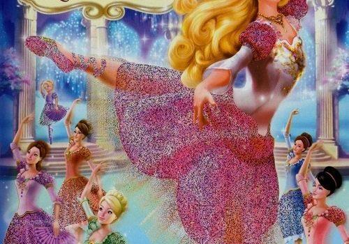 """Affiche du film """"Barbie au bal des douze princesses"""""""