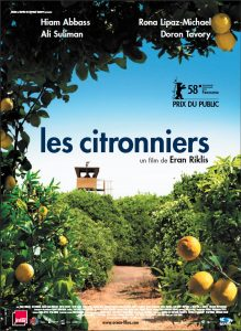 """Affiche du film """"Les citronniers"""""""