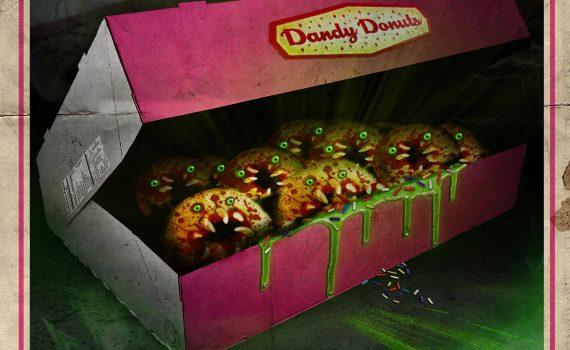 """Affiche du film """"L'attaque des donuts tueurs"""""""