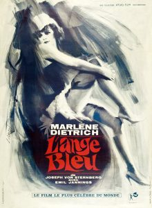 "Affiche du film ""L'Ange bleu"""