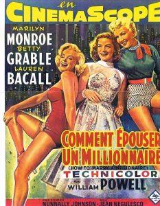 """Affiche du film """"Comment épouser un millionnaire"""""""