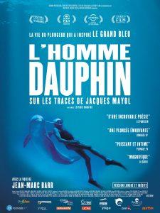 """Affiche du film """"L'Homme dauphin, sur les traces de Jacques Mayol"""""""
