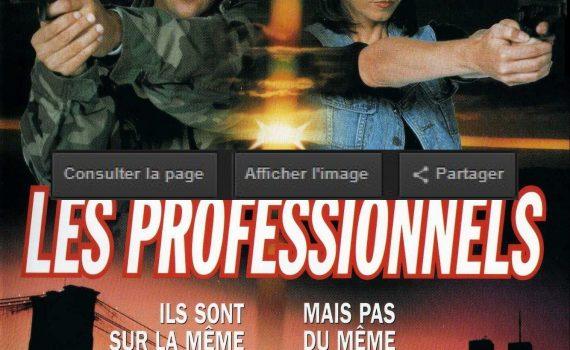 """Affiche du film """"Les professionnels"""""""